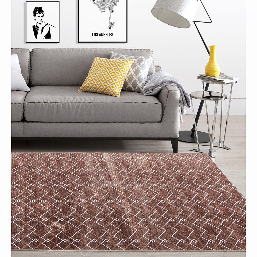Tapete Belga Geométrico - 1,00m x 1,40m - Desenho 116 A - Corttex