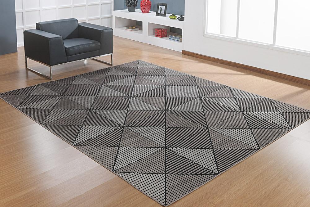 Tapete Belga Prime - 1,40m x 2,00m - Desenho 010 - Preto - Niazitex