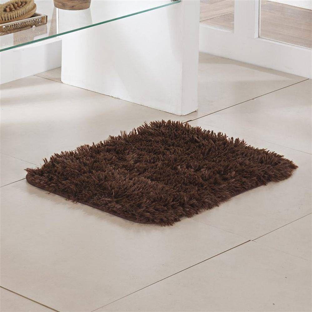 Tapete de Banheiro - Pelúcia - Congo - 60cm x 40cm - Chocolate - Niazitex