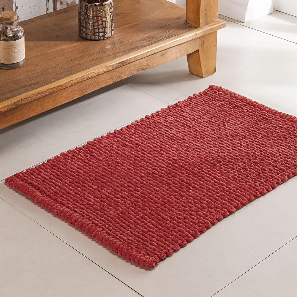 Tapete de Banheiro - Phoenix - 60cm x 40cm - Vermelho - Niazitex