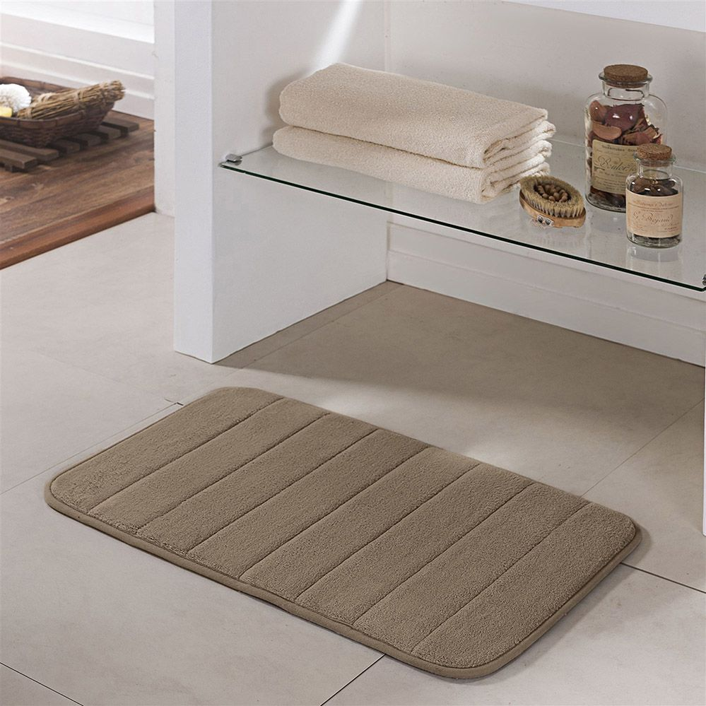 Tapete de Banheiro - Super Soft - Miami - 60cm x 40cm - Caqui - Niazitex