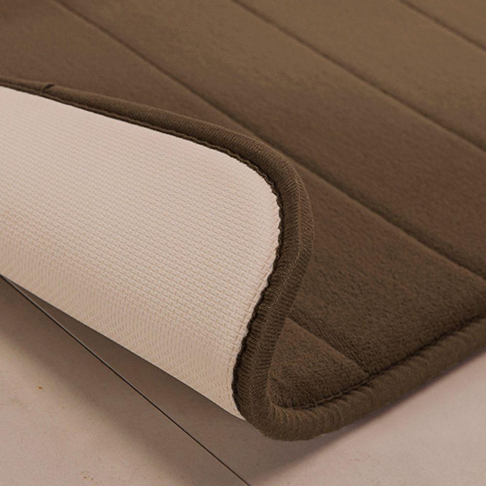 Tapete de Banheiro - Super Soft - Miami - 60cm x 40cm - Marrom - Niazitex