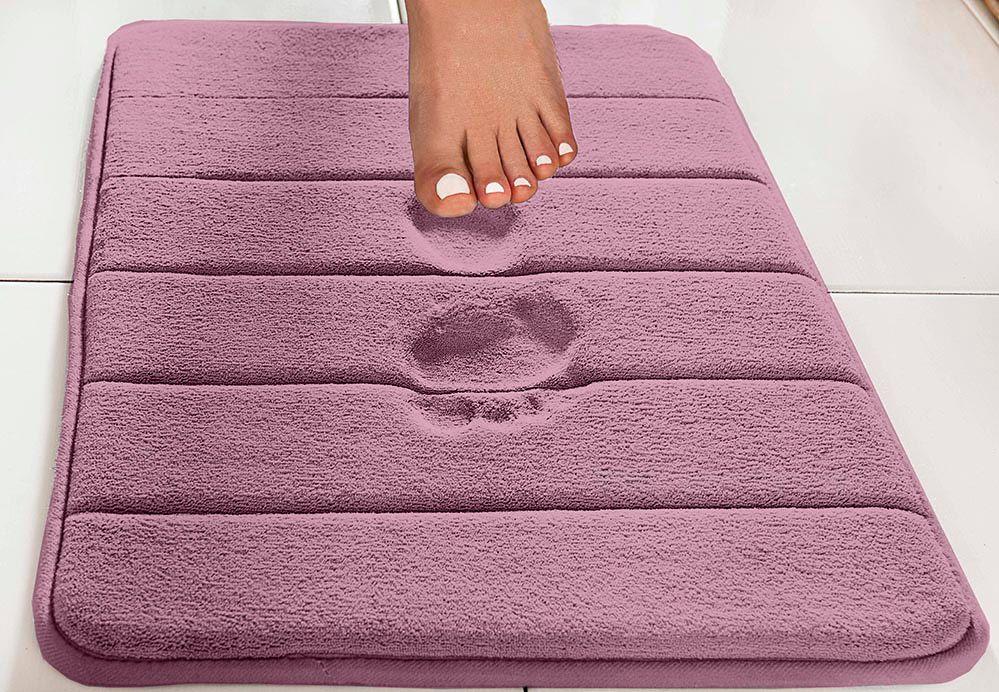 Tapete de Banheiro - Super Soft - Miami - 60cm x 40cm - Rosé - Niazitex