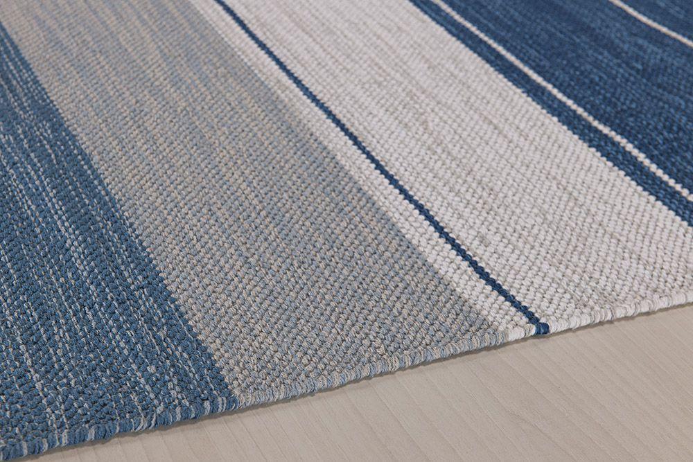 Tapete Indiano Kilim - Basar - 1,00m x 1,40m - 100% Algodão - Azul - Niazitex