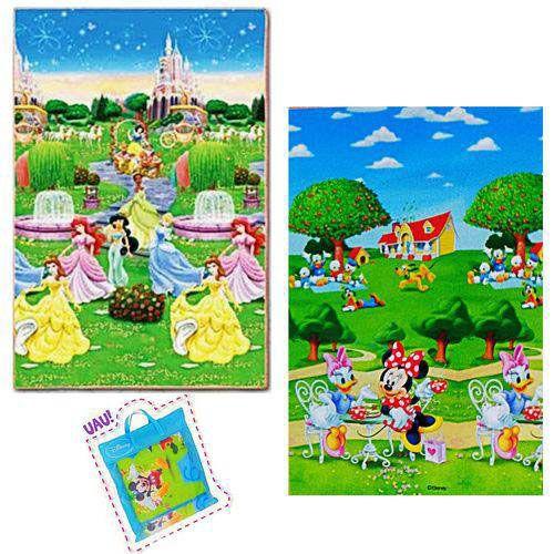 Tapete Infantil - Recreio Trip Princesas - Dobrável  - 1,80m x 1,20m - Dupla Face - Jolitex