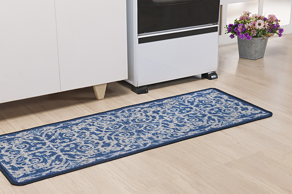 Tapete P/ Cozinha - Boucle Moderno - 0,45m x 1,20m - Azul - Niazitex