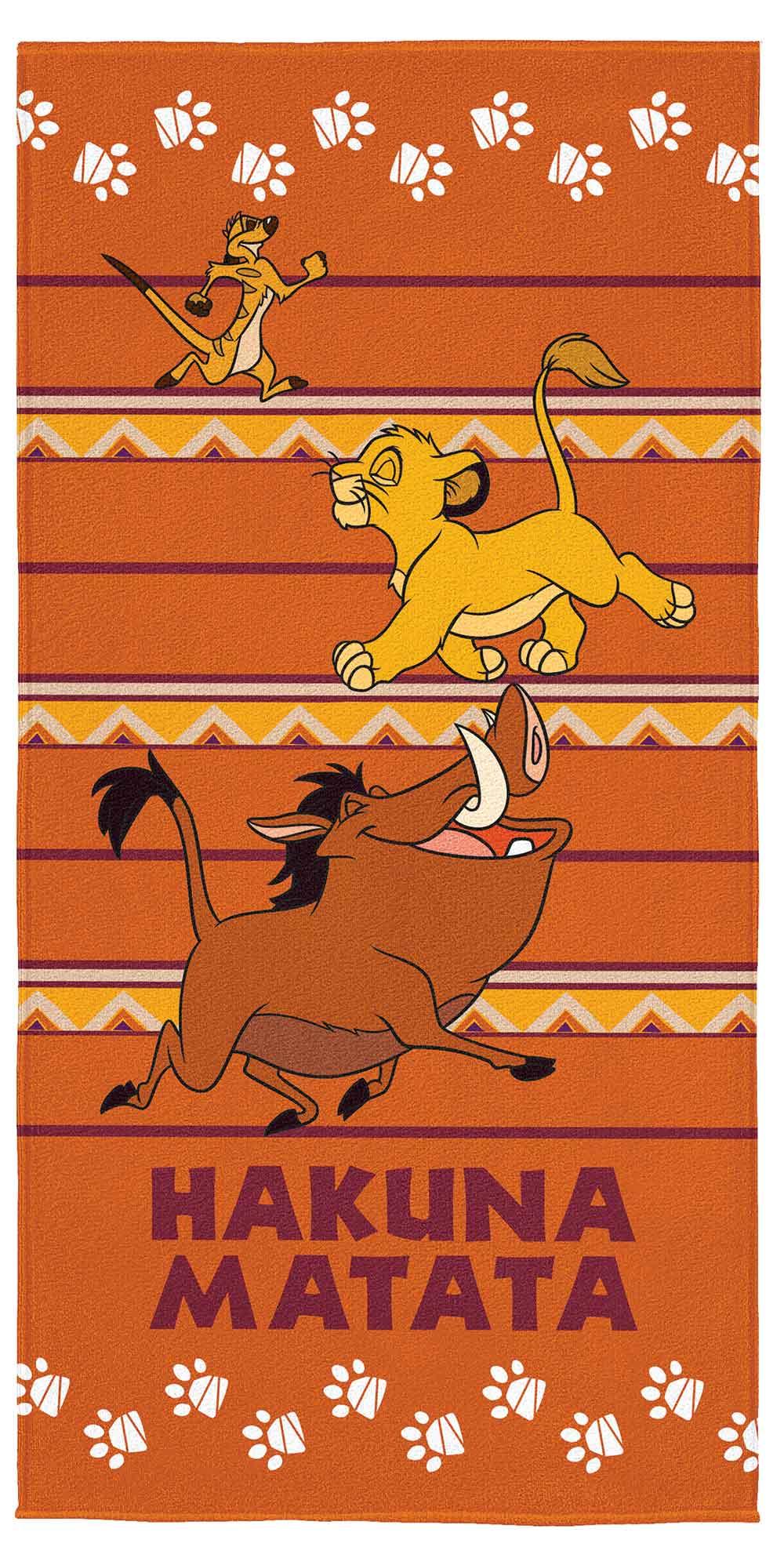 Toalha de Banho Infantil - Rei Leão - Aveludada - Lepper