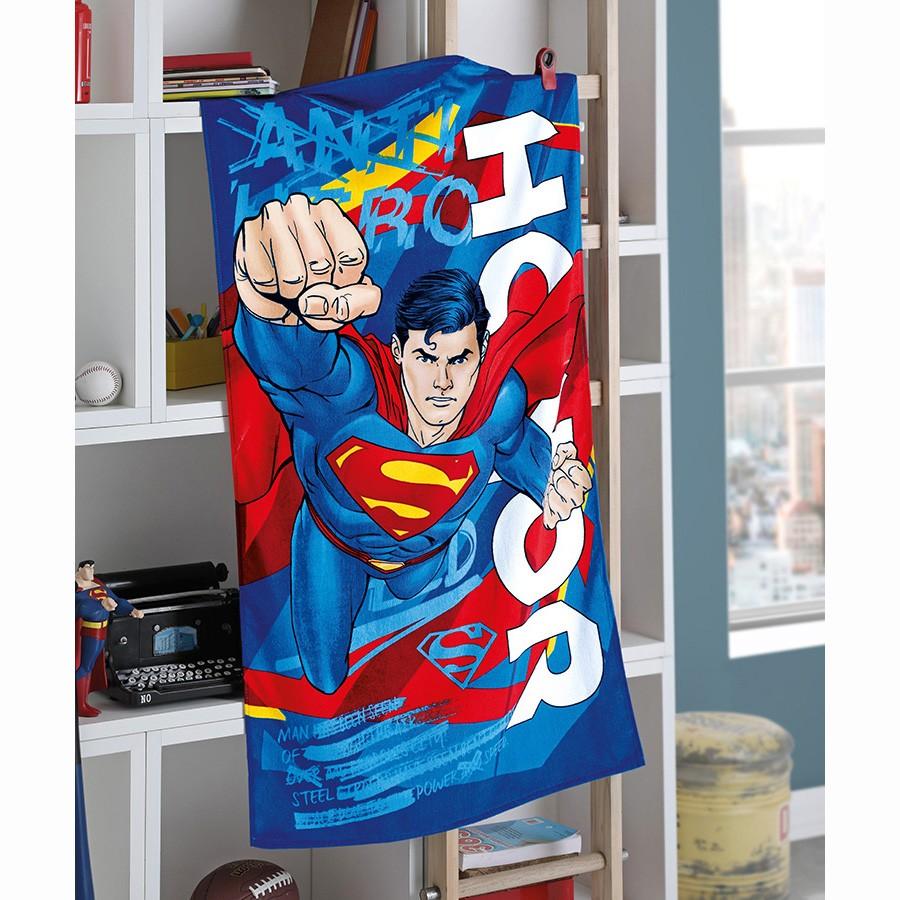Toalha de Banho Infantil - Superman 15 - Aveludada - Dohler