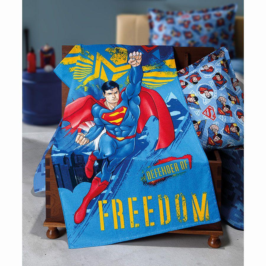 Toalha de Banho Infantil - Superman 17 - Felpuda - Dohler
