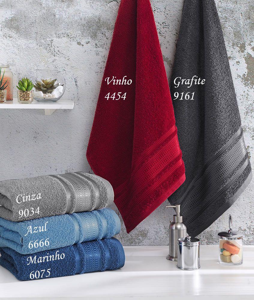 Toalha de Banho - Jordan - Prata - 100% Algodão - Santista