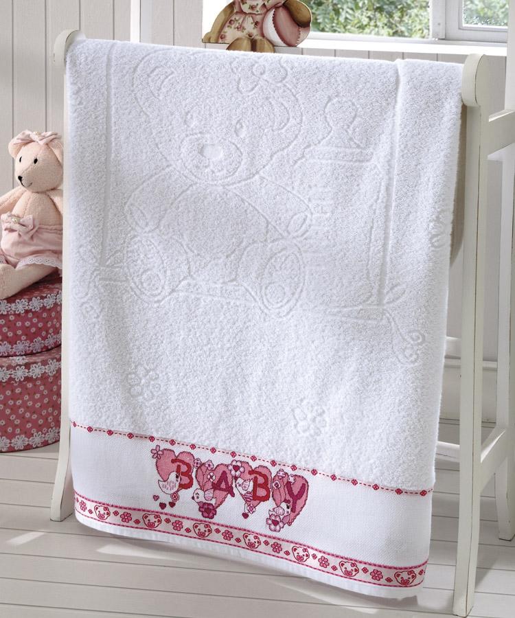 Toalha de Banho P/ Bordar - Baby Kids - Ursinhos - Branco 0001 - P/ Bordar - Dohler
