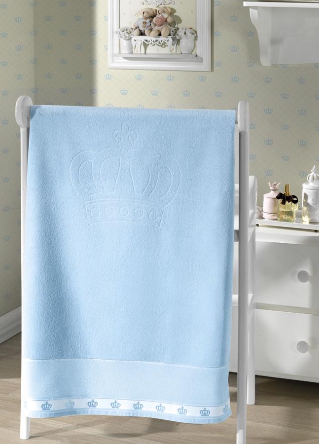 Toalha de Banho p/ Bordar - Baby Classic - Azul 7239 - Aveludada - Dohler