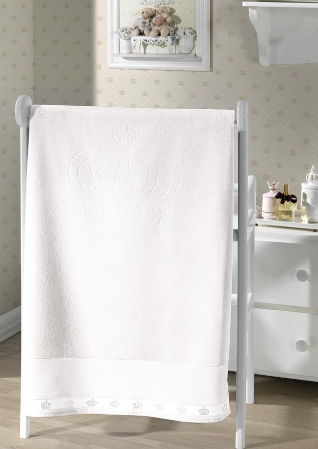 Toalha de Banho p/ Bordar - Baby Classic - Branco 0001 - Aveludada - Dohler