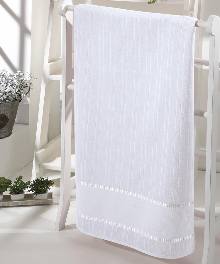 Toalha de Banho p/ Bordar - Bella - Aveludada - Branco 0001 - Dohler
