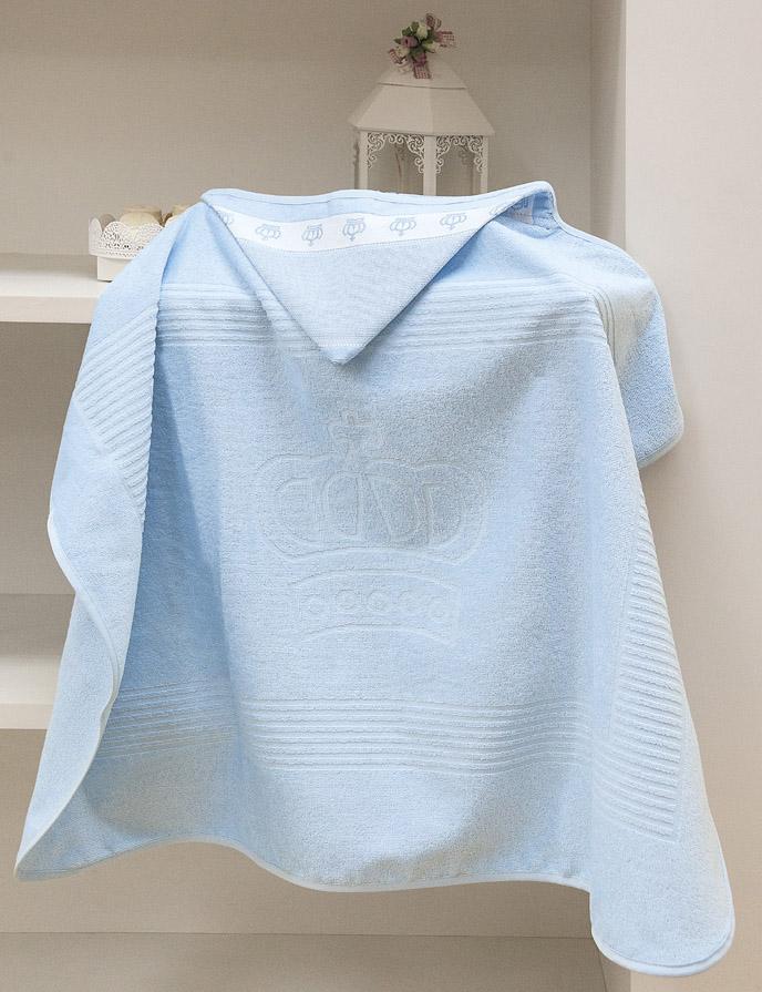 Toalha de Banho p/ Bordar - Baby Classic - C/ Capuz - Azul 7239 - Aveludada - Dohler