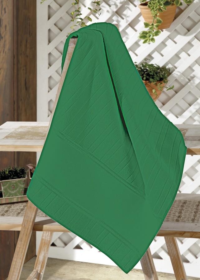 Toalha de Lavabo p/ Bordar - Artesanalle - Aveludada - Verde Bandeira 5169 - Dohler