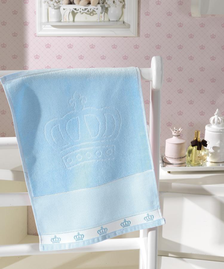 Toalha de Lavabo p/ Bordar - Baby Classic - Aveludada - Azul 7239 - Dohler