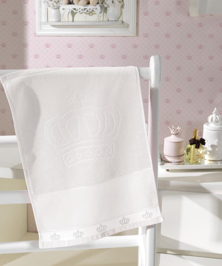 Toalha de Lavabo p/ Bordar - Baby Classic - Aveludada - Branco 0001 - Dohler