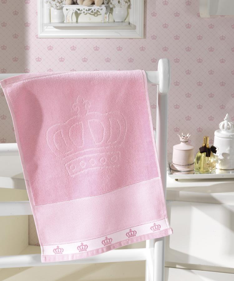 Toalha de Lavabo p/ Bordar - Baby Classic - Aveludada - Rosa 5211 - Dohler