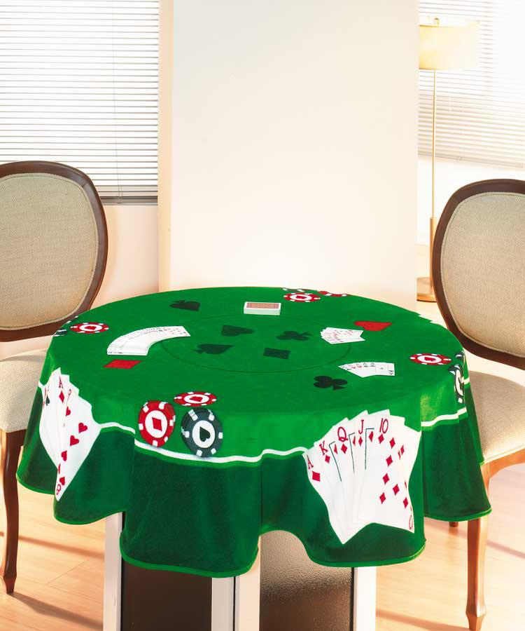 Toalha de Mesa P/ Jogos - Cartas II - Redonda 1,60m - Dohler