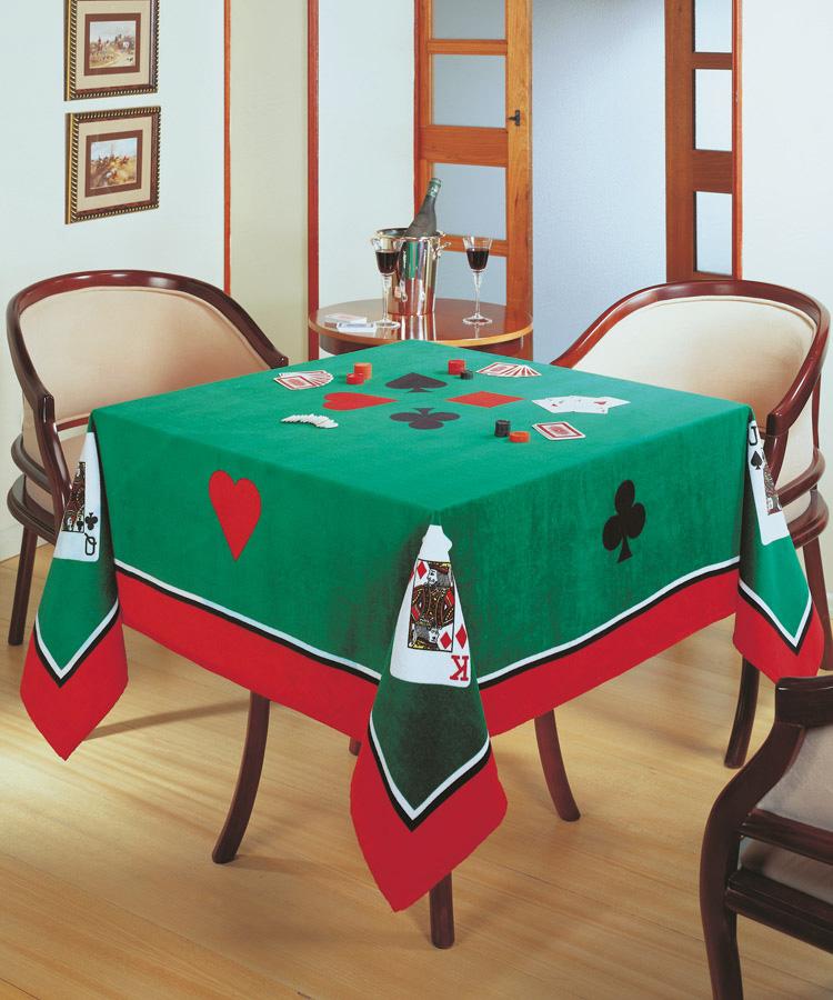 Toalha de Mesa P/ Jogos - Cartas - Quadrada 1,54m x 1,54m - Dohler
