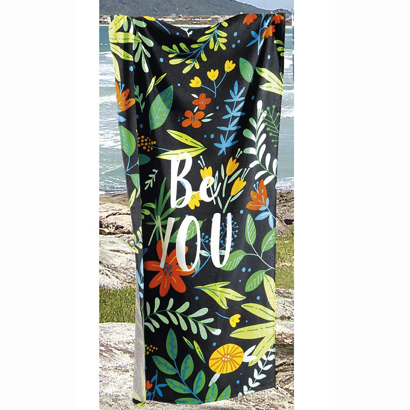 Toalha de Praia - Be You - Aveludada - Dohler