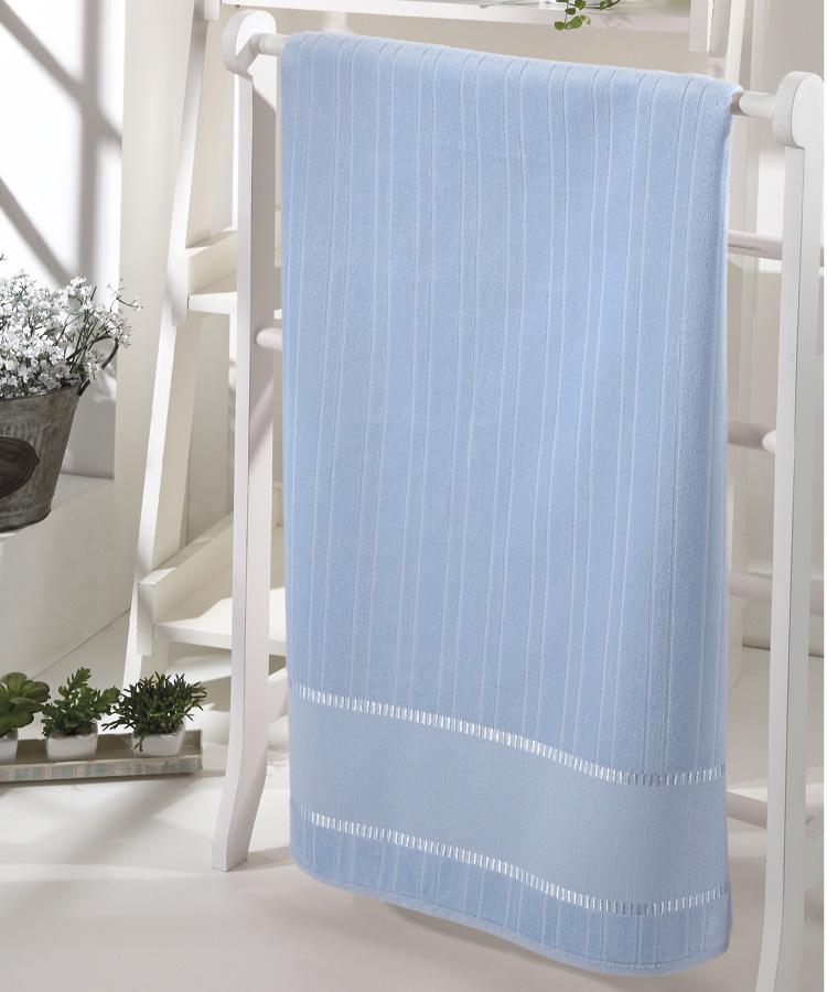 Toalha de Rosto p/ Bordar - Bella - Aveludada - Azul 3792 - Dohler