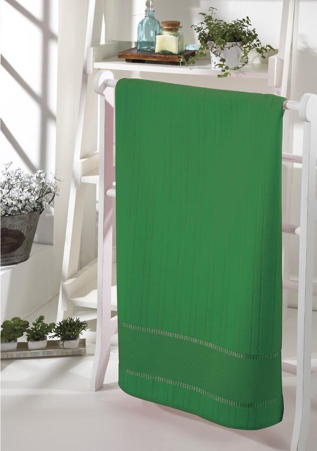 Toalha de Rosto p/ Bordar - Bella - Aveludada - Verde Bandeira 5169 - Dohler
