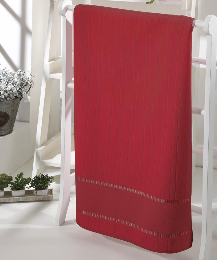 Toalha de Rosto p/ Bordar - Bella - Aveludada - Vermelho 2900 - Dohler