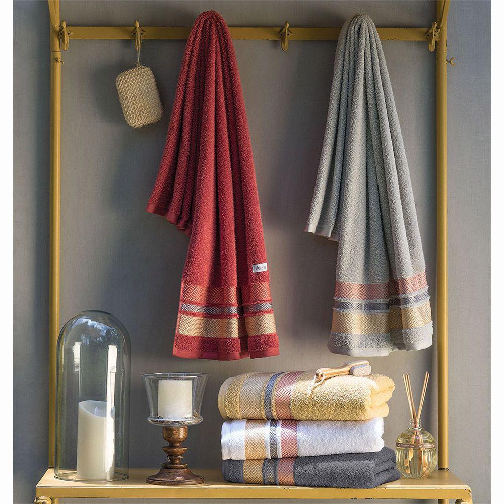 Toalha de Rosto - Texture - Home Design - Percal 100% Algodão - Santista