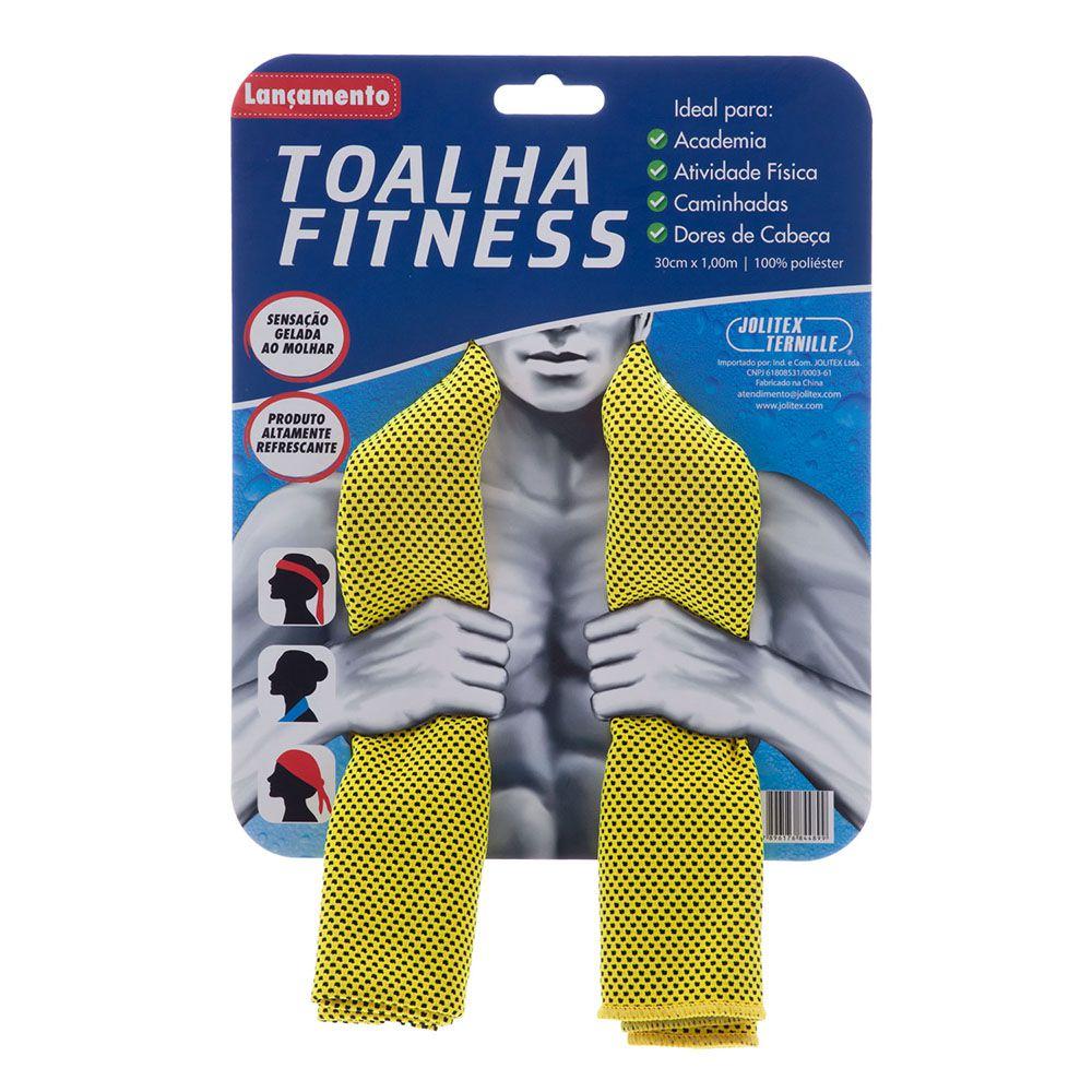 Toalha Esportiva Fitness - Amarelo - Jolitex