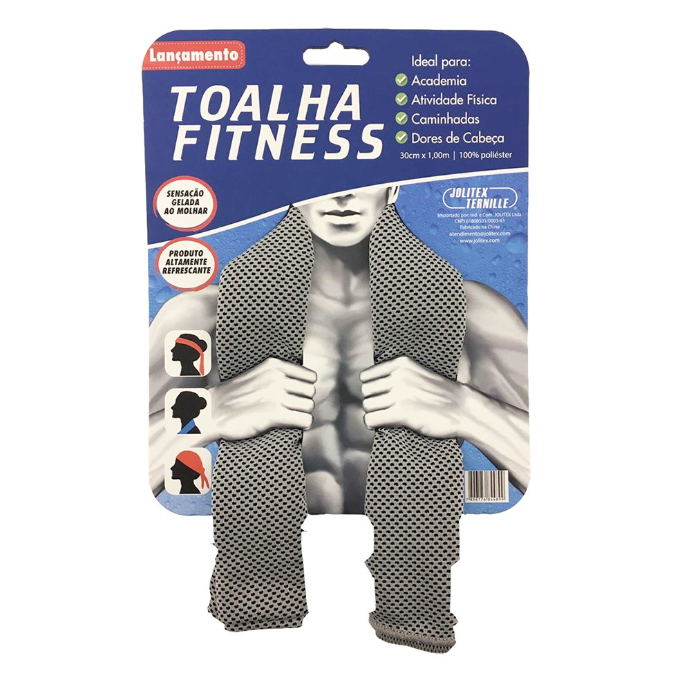 Toalha Esportiva Fitness - Cinza - Jolitex