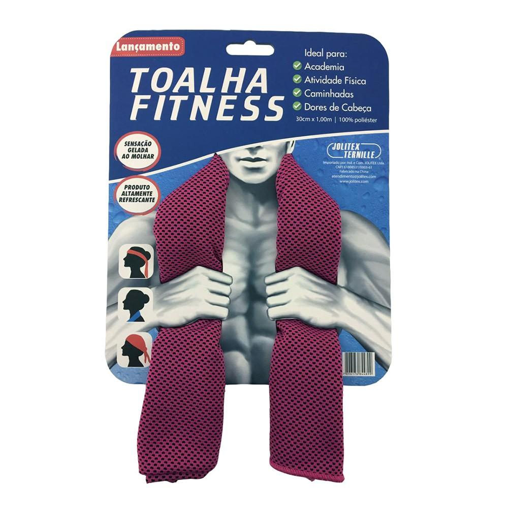 Toalha Esportiva Fitness - Rosa - Jolitex
