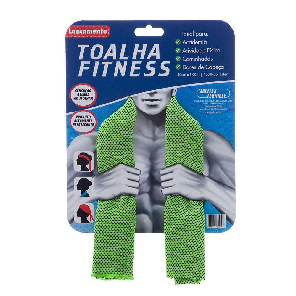 Toalha Esportiva Fitness - Verde - Jolitex