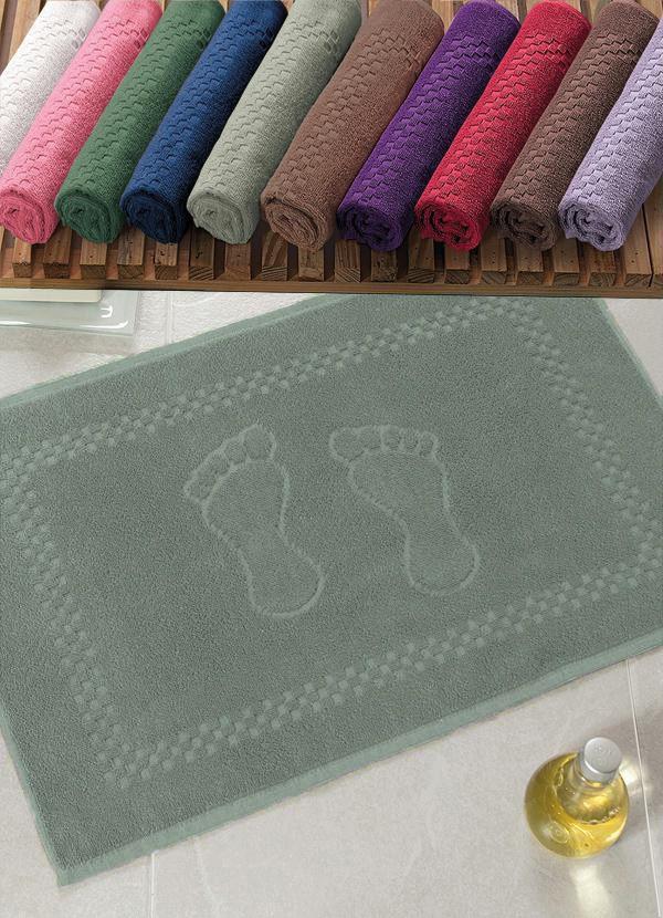 Toalha P/ Piso de Banheiro - Pezinho - Cor Verde Matte 745 - Appel