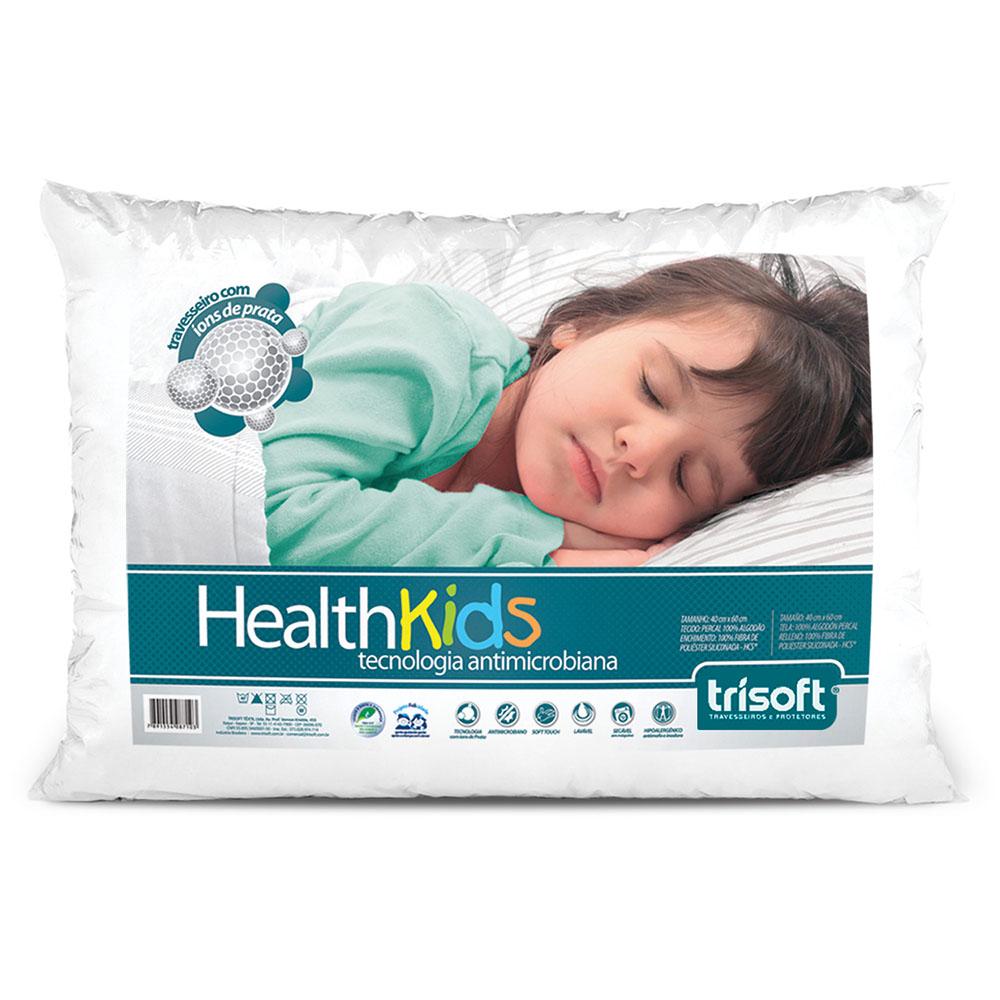 Travesseiro Infantil - Health Kids - 40cm x 60cm - Trisoft
