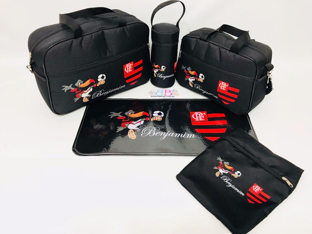 315dc56d4 Kit Bolsa Maternidade 5 Peças Flamengo