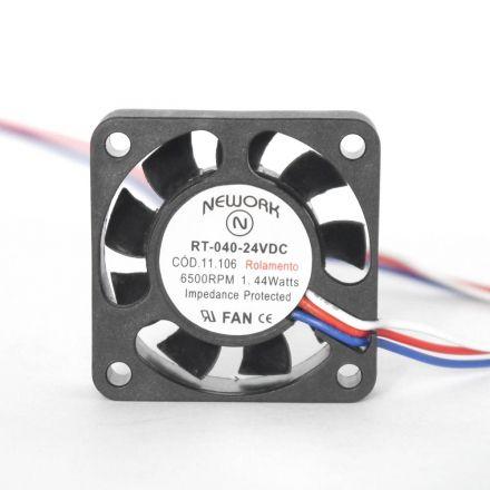 Miniventilador Código 11.106 Dimensão(mm) 40X40X10 24VDC