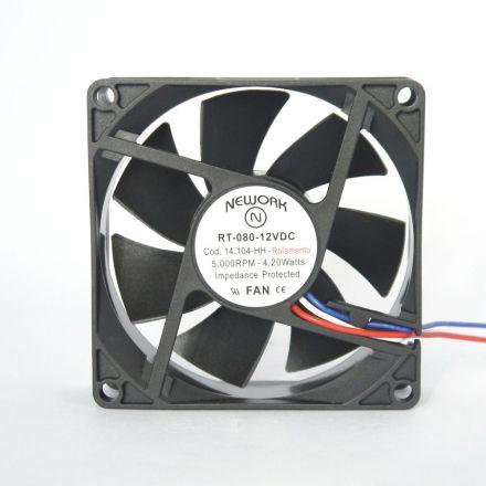 Miniventilador Código 14.104-HH Dimensão(mm) 80X80X25 12VDC