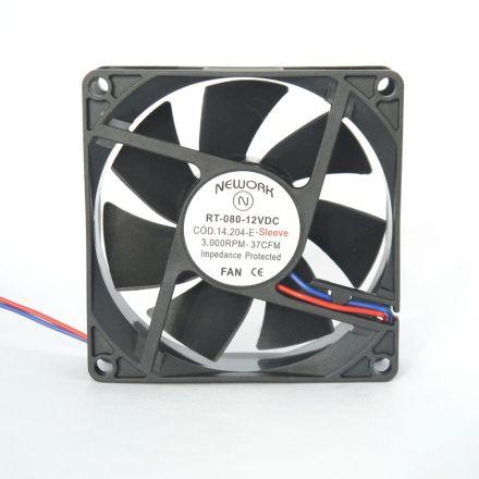 Miniventilador Código 14.204 E Dimensão -(mm) 80X80X25 12VDC