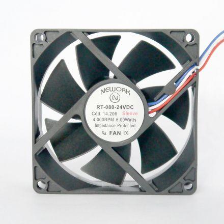 Miniventilador Nework 80X80X25 24VDC Código 14.206