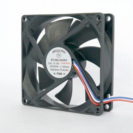 Miniventilador Código 15.106 Dimensão(mm) 92X92X25 12VDC