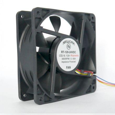 Miniventilador Nework 120X120X38 24VDC Código 16.112 H