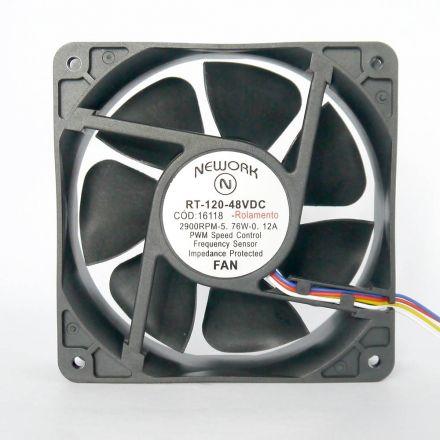 Miniventilador Código 16.118 Dimensão(mm) 120X120X38 48V