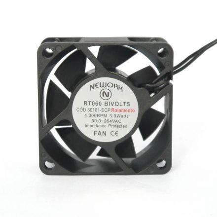 Miniventilador Nework 60X60X25 Bivolts Código 50.101-ECP