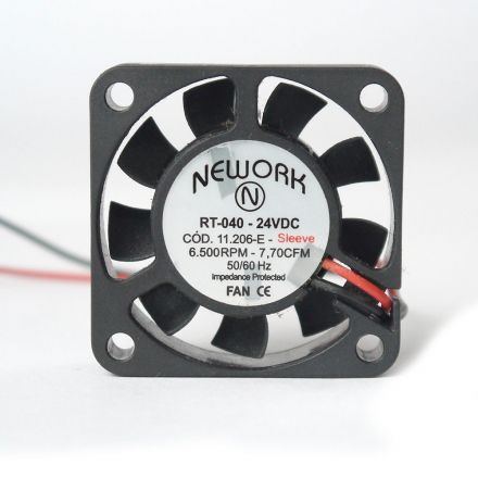 Miniventilador Nework 40X40X10 24 VDC Código 11206 E