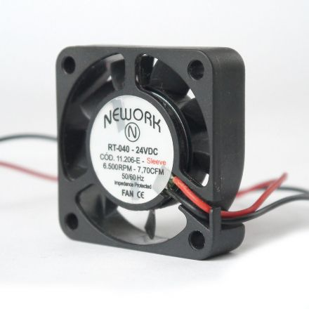 Miniventilador Código 11206 -E Dimensão 40X40X10 24 VDC