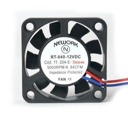 Miniventilador Código 11.204 E Dimensão(mm) 40X40X10 12VDC