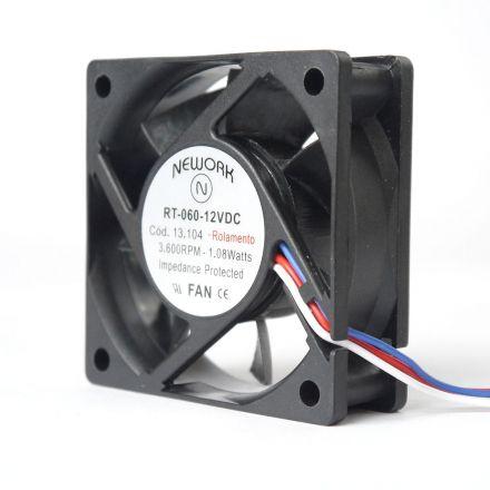 Miniventilador Nework 60x60X20 12VDC Código 13.104