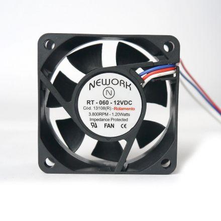 Miniventilador Código 13.108 R Dimensão (mm) 60X60X25 12 VDC
